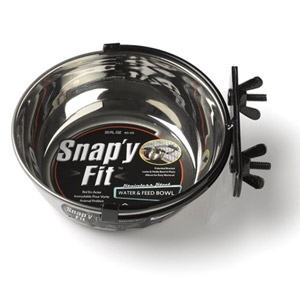 Mid West Snap'y Fit Water & Feed Bowl