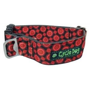 Cycle Dog® Fatty Red Space Dot Dog Collar