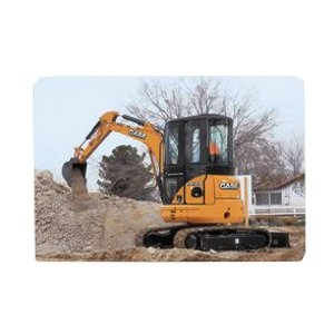 Case Trackhoe- no cab available for this machine