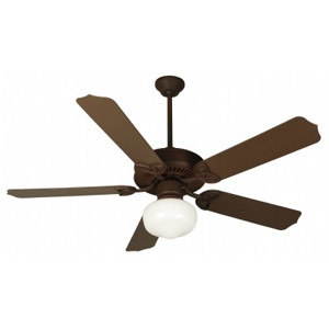 "Craftmade 52"" Ext Patio Fan Rustic Iron W/52"" #B552 Solok Blades"