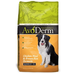 $5 off AvoDerm Chicken & Rice Large Bags