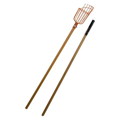 Flexrake Fruit Pick with 8-Foot, 2-Piece Wooden Handle
