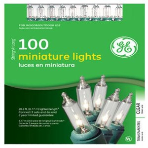 GE Nicolas Holiday Inc. String a Long Light Set Mini 100-Count