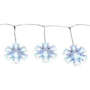 Noma Inliten-Import Sylvania LED Christmas String Light Set Snowflake 8-Function