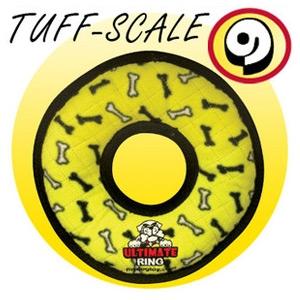 Tuffy Toys Yellow Bones Ultimate Ring Dog Toy