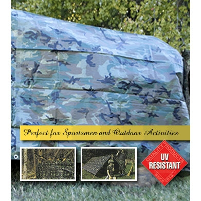 Camouflage Poly Tarp 8ft X 10ft