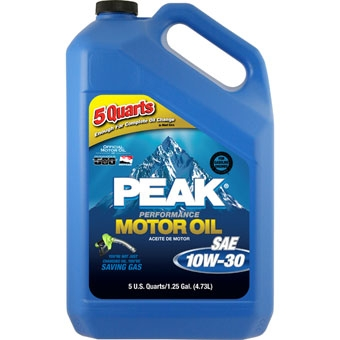 Peak Sae 10w-30 Multigrade Motor Oil 5 Qt