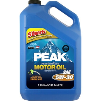 Peak Sae 5w-30 Multigrade Motor Oil 5 Qt