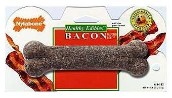 Nylabone Healthy Edibles Bacon Bone Wolf