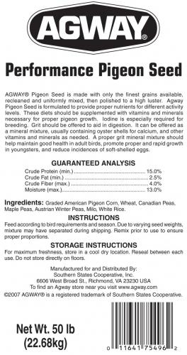 Agway Performance Pigeon Seed 50lb