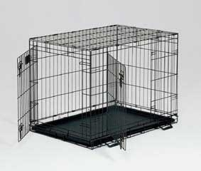 Wire Double Door Crate 48 X 30 X 33