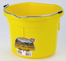 Flat Back Bucket Yellow 8 Qt