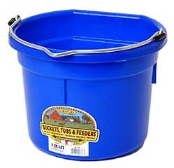 Flat Back Bucket Berry Blue 8 Qt