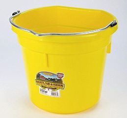 Flat Back Bucket Yellow 20 Qt