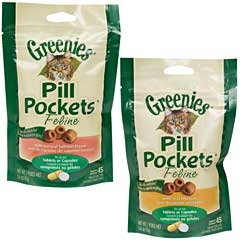 Greenies Cat Pill Pocket Salmon 1.6oz