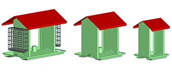 Hopper Feeder Verde Vein Metal Small
