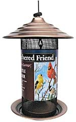 Feathered Friend Brushed Copper Nyjer Feeder