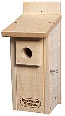 Feathered Friend Bluebird House Unstained