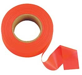 Flagging Tape Glo Orange 1in X 200ft