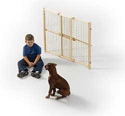 Wood And Wire Mesh Pressure Gate 32in