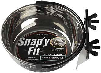 Snapy Fit Stainless Steel Water & Feed Bowl 20oz