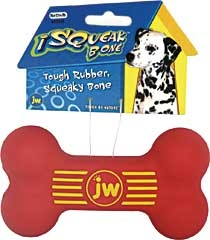 Isqueak Bone Dog Toy Medium