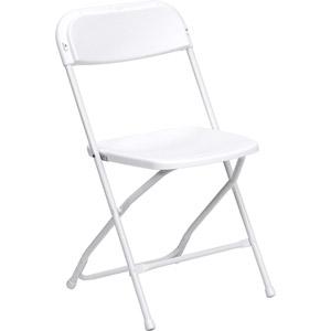 Chair, White Folding