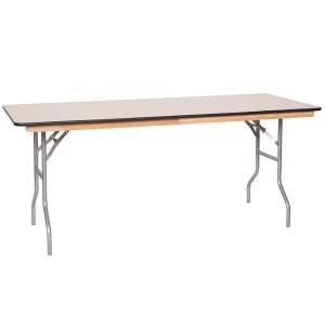 "6' x 30"" Wood Banquet Table"