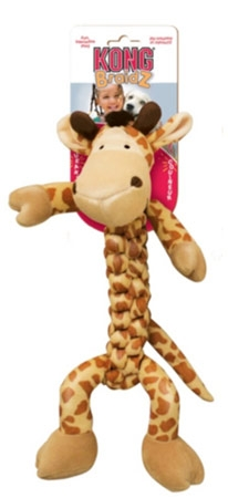 Kong Braidz Squeak Toy Giraffee For Dogs Small