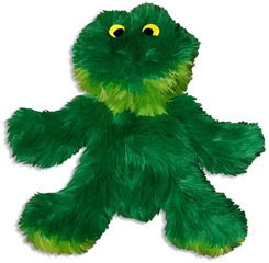 Kong Dr. Noys' Sitting Frog Plush Toy For Dogs Medium
