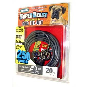 Agway Super-beast Super Heavy Duty Dog Tie-out Maximum Strength 20ft