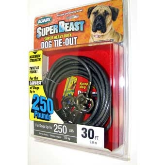 Agway Super-beast Super Heavy Duty Dog Tie-out Maximum Strength 30ft
