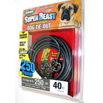 Agway Super-beast Super Heavy Duty Dog Tie-out Maximum Strength 40ft