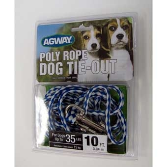 Agway Poly Rope Dog Tie-out For Dogs Up To 35 Lb 10ft
