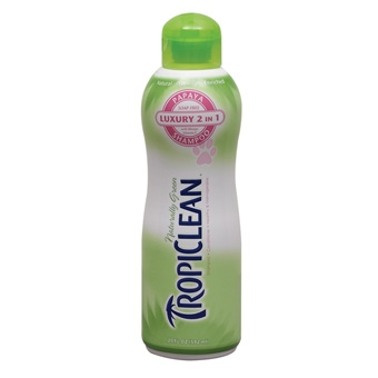 Tropiclean Luxury 2 In 1 Papaya Shampoo For Pets 20oz