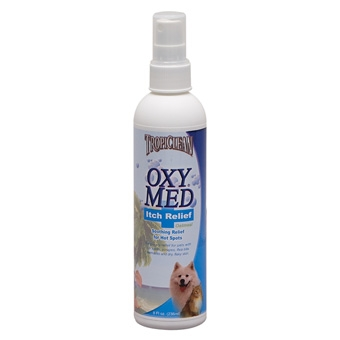 Tropiclean Oxy Med Itch Relief Oatmeal Spray 8oz