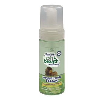 Tropiclean Fresh Breath Instant Fresh Foam Mint 4.5oz