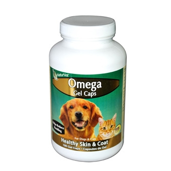 Naturvet Omega Gel Caps For Dogs & Cats 180ct