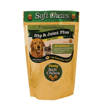 Naturvet Naturals Soft Chews Hip & Joint Plus 120ct