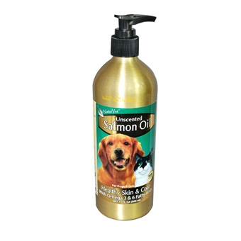 Naturvet Salmon Oil Unscented For Dogs & Cats 17oz