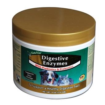 Naturvet Digestive Enzymes With Prebiotics & Probiotics 4oz