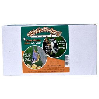 Birdwatchers Best Nutty Butter Suet Cake Value 10 Pack 11 Oz