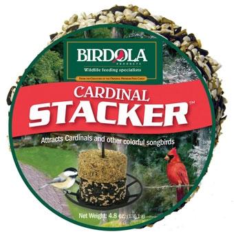 Birdola Cardinal Stacker Seed Cake 4.8 Oz