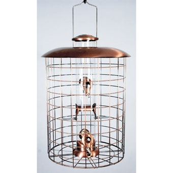 Woodlink Caged Six-port Seed Feeder Brushed Copper