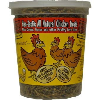Unipet Hentastic Mealworm Chicken Treat 6 Oz