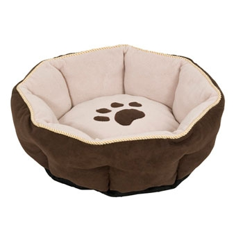 Aspen Pet Sculptured Round Bed Assorted 18in