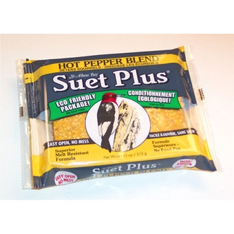 Suet Plus Hot Pepper Blend Suet Cake 11 Oz
