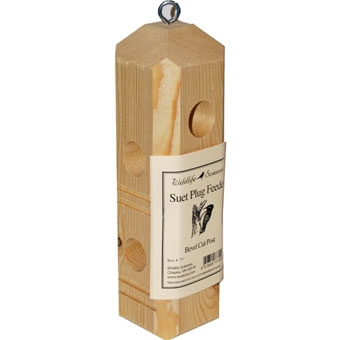 Wildlife Sciences Bevel Cut Post Suet Plug Feeder
