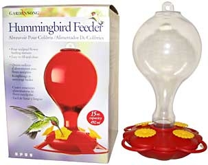 Plastic Hummingbird Feeder With Nectar 16oz