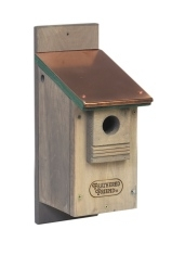 Feathered Friend Bluebird House Copper Roof